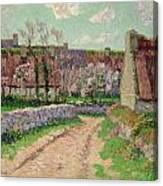Village In Clohars Canvas Print