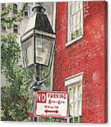 Village Lamplight Canvas Print