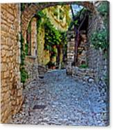 Village Lane Provence France Canvas Print