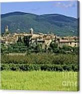 Village Of Lourmarin. Luberon. Vaucluse Canvas Print