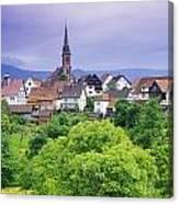 Village Of Rottelsheim, Alsace, France Canvas Print