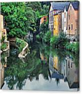 Village Reflections In Luxembourg II Canvas Print