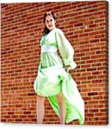Vintage 1940's Green Dress 2 Canvas Print