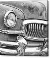 Vintage 1951 Nash Ambassador Front End 2 Bw Canvas Print