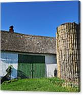 Vintage American Barn And Silo 2 Of 2 Canvas Print