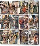 Vintage Art Nouveau French Calendar Art Canvas Print