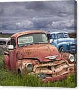 Vintage Auto Junk Yard Canvas Print