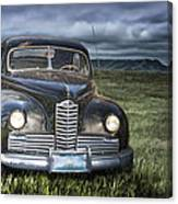 Vintage Auto On The Prairie Canvas Print