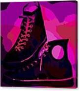 Vintage Basketball Shoes Canvas Print