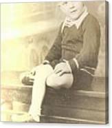 Vintage Boy Crossed Leg Canvas Print