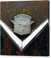 Vintage Caddy Emblem Canvas Print