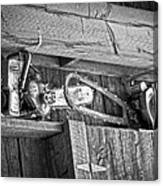 Vintage Chain Saws Canvas Print