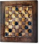 Vintage Checkers Game Canvas Print