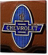 Vintage Chevrolet Emblem Canvas Print
