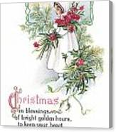 Vintage Christmas Blessings Canvas Print