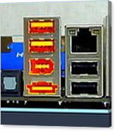 Vintage Circuit Board Connectors Canvas Print