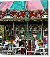Vintage Circus Carousel - Merry-go-round Canvas Print