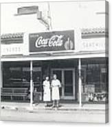 Vintage Coca Cola Store Canvas Print