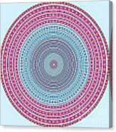 Vintage Color Circle Canvas Print