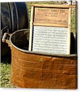 Vintage Copper Wash Tub Canvas Print