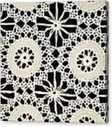 Vintage Crocheted Doily Canvas Print