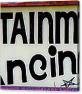 Vintage Dance Sign Canvas Print