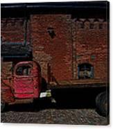 Vintage Distillery Truck Canvas Print