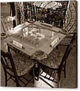 Vintage Domino Table Canvas Print