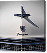 Vintage Ford Fairlane Hood Ornament Canvas Print