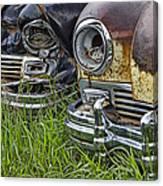 Vintage Frazer Auto Wreck Front Ends Canvas Print