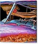 Vintage Frazer Front Window Auto Wreck Canvas Print