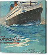 Vintage French Line Travel Poster Canvas Print