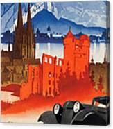 Vintage Germany Travel Poster Canvas Print