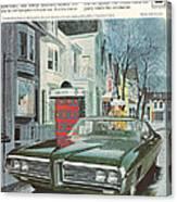 Vintage Gm Pontiac Canvas Print