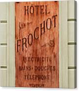 Vintage Hotel Sign 3 Canvas Print