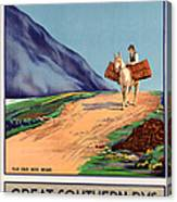Vintage Ireland Travel Poster Canvas Print