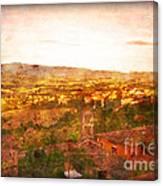 Vintage  Landscape Florence Italy Canvas Print