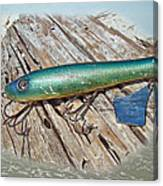 Vintage Lido Flaptail Saltwater Fishing Lure Canvas Print