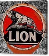 Vintage Lion Oil Sign Canvas Print
