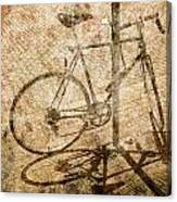 Vintage Looking Bicycle On Brick Pavement Canvas Print