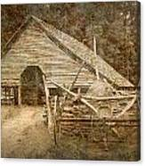 Vintage Looking Old Barn In The Great Smokey Mountains Canvas Print