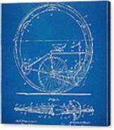 Vintage Monocycle Patent Artwork 1894 Canvas Print