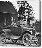 Vintage Photo Of Men In Truck Canvas Print
