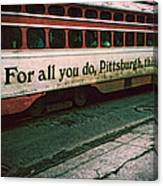 Vintage Pittsburgh Trolly Canvas Print
