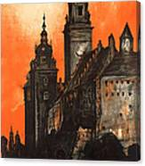Vintage Poland Travel Poster Canvas Print
