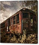 Vintage Rail Car Canvas Print