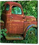 Vintage Rusted Dodge Truck Canvas Print