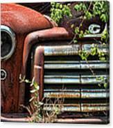 Vintage Rusty Dusty Gmc Graveyard Truck Canvas Print