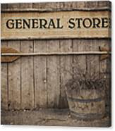 Vintage Sign General Store Canvas Print
