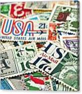 Vintage Stamps. Canvas Print